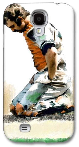 Fallen Captain Ix Thurman Munson Galaxy S4 Case by Iconic Images Art Gallery David Pucciarelli
