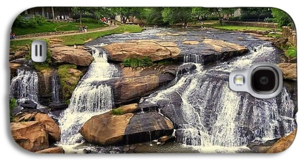 Waterscape Galaxy S4 Cases - Falls Park Waterfalls in Greenville South Carolina  Galaxy S4 Case by Kathy Barney