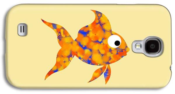 Christina Digital Galaxy S4 Cases - Fancy Goldfish Galaxy S4 Case by Christina Rollo