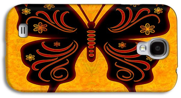 Abstracts Glass Galaxy S4 Cases - Fantasies Of Light Abstract Bliss Butterflies by Omashte Galaxy S4 Case by Omaste Witkowski