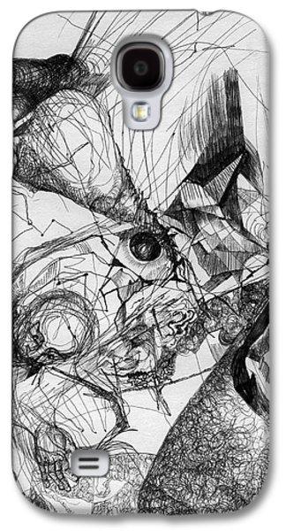 Fantasy Mixed Media Galaxy S4 Cases - Fantasy drawing 1 Galaxy S4 Case by Svetlana Novikova