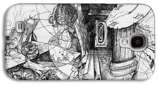 Ink Drawing Drawings Galaxy S4 Cases - Fantasy Drawing 3 Galaxy S4 Case by Svetlana Novikova