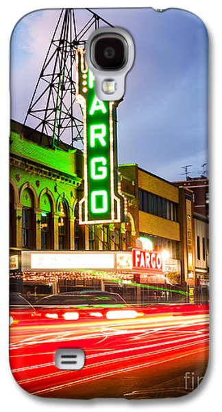 Fargo Theatre And Downtown Buidlings At Night Galaxy S4 Case by Paul Velgos