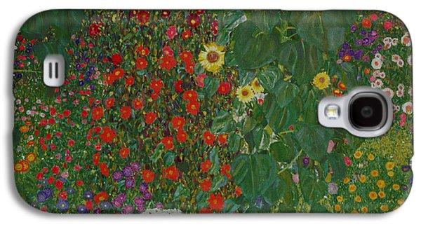 Farm Garden With Flowers Galaxy S4 Case by Gustav Klimt