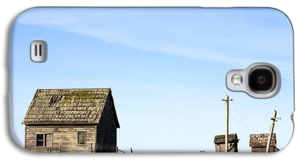 Telephone Poles Galaxy S4 Cases - Farm House, Mendoncino, California Galaxy S4 Case by Paul Edmondson