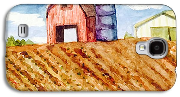 Jame Hayes Galaxy S4 Cases - Farm in Spring Galaxy S4 Case by Jame Hayes