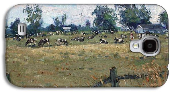 Farm In Terra Cotta On Galaxy S4 Case by Ylli Haruni