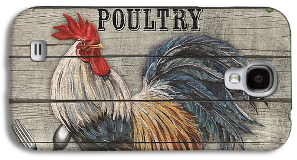 Locally Grown Galaxy S4 Cases - Farm to Table Rooster-JP2628 Galaxy S4 Case by Jean Plout