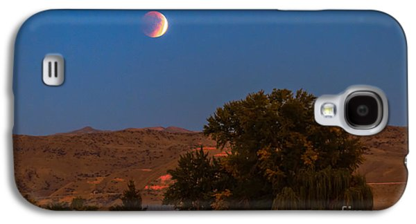 Surreal Landscape Galaxy S4 Cases - Farm View Of Supermoon Eclipse Galaxy S4 Case by Robert Bales