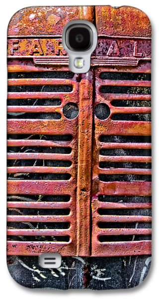 Machinery Galaxy S4 Cases - Farmall Tractor Grill Galaxy S4 Case by Colleen Kammerer