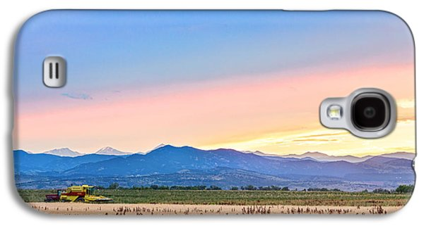 Tractor Prints Galaxy S4 Cases - Farmers Sunset Galaxy S4 Case by James BO  Insogna