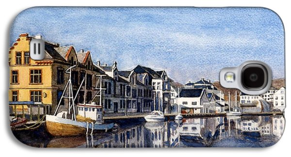 Janet King Galaxy S4 Cases - Farsund Dock Scene 2 Galaxy S4 Case by Janet King