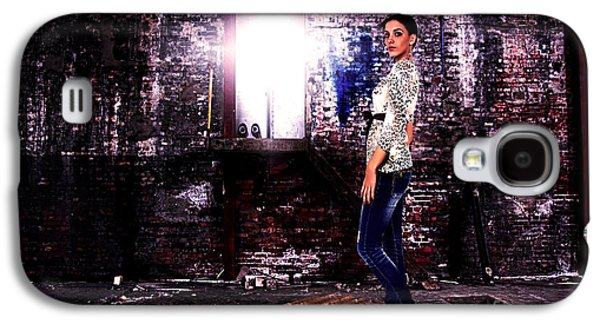 Loose Style Photographs Galaxy S4 Cases - Fashion Model in Jeans  Galaxy S4 Case by Milan Karadzic