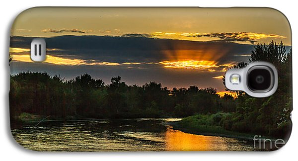 Haybale Galaxy S4 Cases - Fathers Day Sunset Galaxy S4 Case by Robert Bales