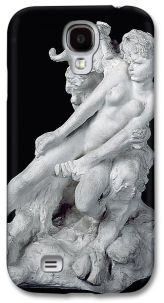 Nudes Sculptures Galaxy S4 Cases - Faun and Nymph Galaxy S4 Case by Auguste Rodin