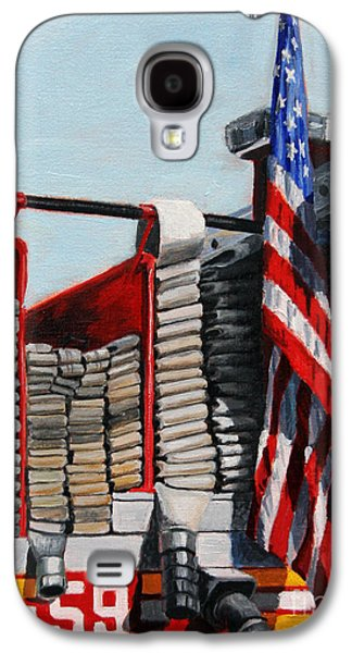 Fdny Engine 59 American Flag Galaxy S4 Case by Paul Walsh