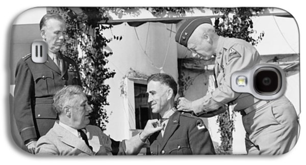 Franklin Galaxy S4 Cases - FDR Presenting Medal Of Honor To William Wilbur Galaxy S4 Case by War Is Hell Store