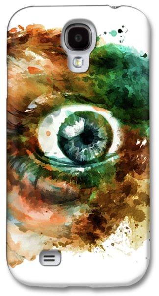Fear Eye Watercolor Galaxy S4 Case by Marian Voicu