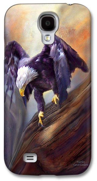 Eagle Mixed Media Galaxy S4 Cases - Fearless Galaxy S4 Case by Carol Cavalaris