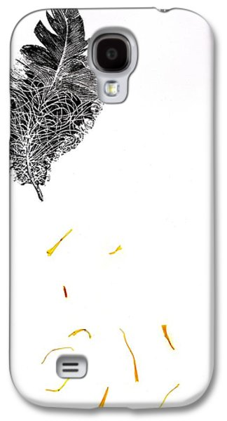 Shed Galaxy S4 Cases - Feather Galaxy S4 Case by Bella Larsson
