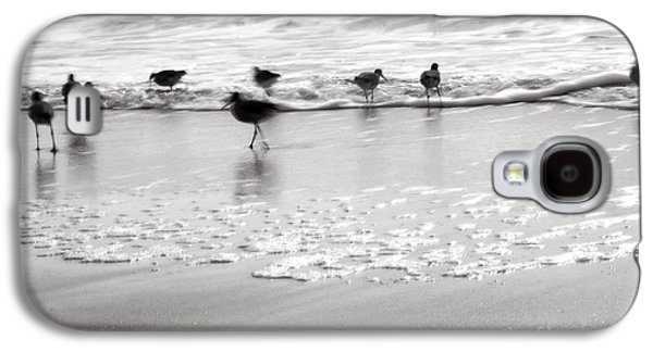 Plundering Plover Series In Black And White Galaxy S4 Case by Angela Rath