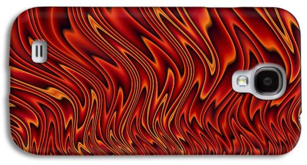 Waves Digital Art Galaxy S4 Cases - Feel The Heat Galaxy S4 Case by John Edwards