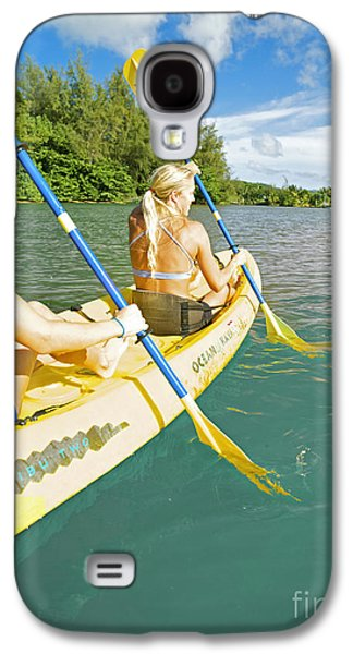 Youthful Galaxy S4 Cases - Female Kayakers Galaxy S4 Case by Kicka Witte - Printscapes