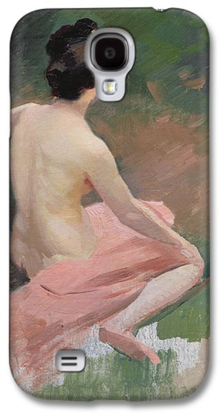 Female Nude Galaxy S4 Case by Jules Ernest Renoux
