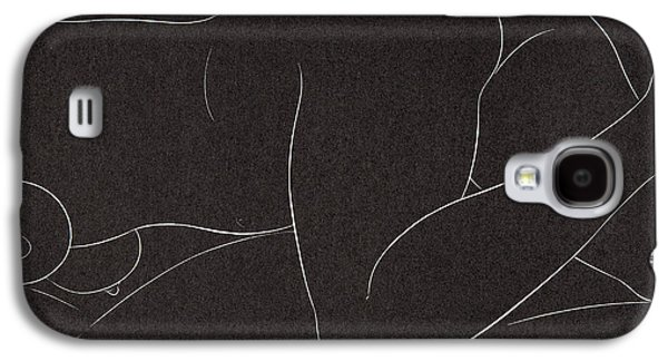 Female Nude Lying Galaxy S4 Case by Eric Gill