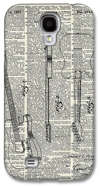 Technical Tapestries - Textiles Galaxy S4 Cases - Fender telecaster guitar over dictionary page Galaxy S4 Case by Jacob Kuch