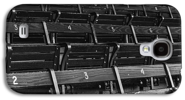 Red Sox Galaxy S4 Cases - Fenway Park Blue Bleachers BW Galaxy S4 Case by Susan Candelario