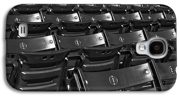 Red Sox Galaxy S4 Cases - Fenway Park Red Bleachers BW Galaxy S4 Case by Susan Candelario