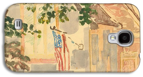 4th July Paintings Galaxy S4 Cases - Fernwood Drive Galaxy S4 Case by Thyrsie Cahoon