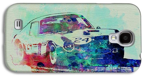 Old Car Drawings Galaxy S4 Cases - Ferrari 250 GTB Racing Galaxy S4 Case by Naxart Studio