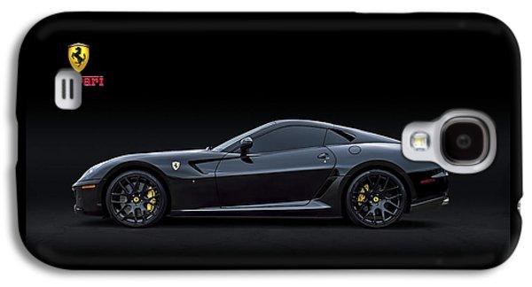 Black Digital Galaxy S4 Cases - Ferrari 599 GTB Fiorano Galaxy S4 Case by Douglas Pittman