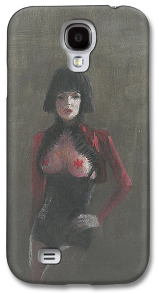 Alluring Paintings Galaxy S4 Cases - Fetish Artist Galaxy S4 Case by Lincoln Seligman