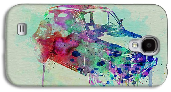 Old Car Drawings Galaxy S4 Cases - Fiat 500 Watercolor Galaxy S4 Case by Naxart Studio