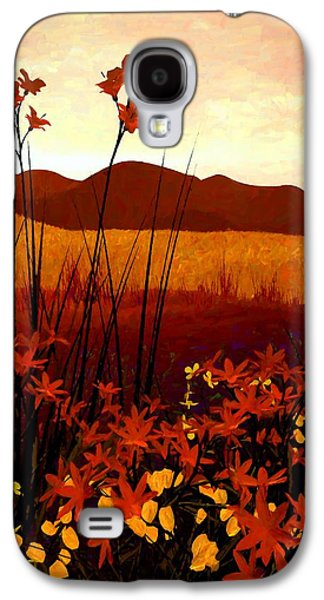 Landscapes Galaxy S4 Cases - Field of Flowers Galaxy S4 Case by Cynthia Decker