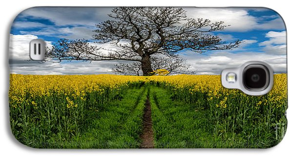 Field. Cloud Galaxy S4 Cases - Field Of Rapeseeds Galaxy S4 Case by Adrian Evans