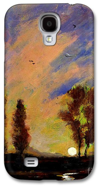 Morning Light Paintings Galaxy S4 Cases - Field of Sunrises Galaxy S4 Case by Charlie Spear