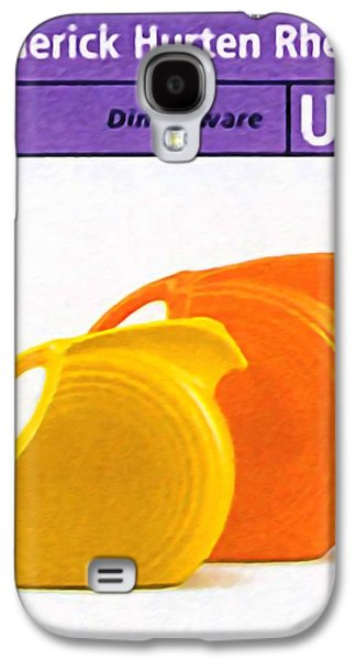 Old Pitcher Paintings Galaxy S4 Cases - Fiesta dinnerware Galaxy S4 Case by Lanjee Chee