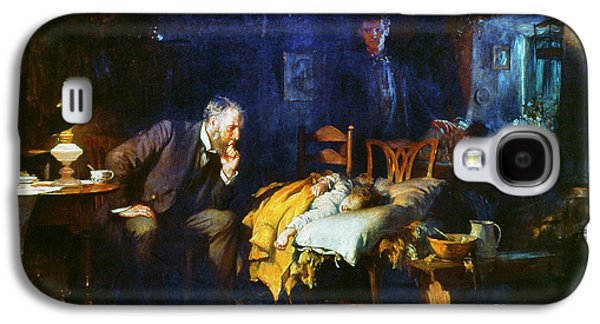 Granger - Galaxy S4 Cases - Fildes The Doctor 1891 Galaxy S4 Case by Granger