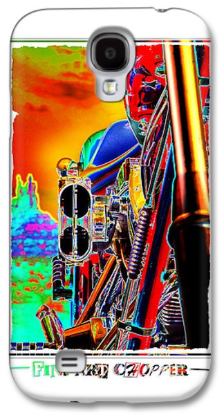 Vibrant Colors Digital Galaxy S4 Cases - Fine Art Chopper I Galaxy S4 Case by Mike McGlothlen