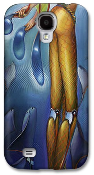 Aquatic Galaxy S4 Cases - Finfaerian Odyssey Galaxy S4 Case by Patrick Anthony Pierson