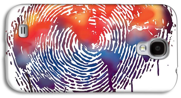 Finger Print Map Of The World Galaxy S4 Case by Sassan Filsoof