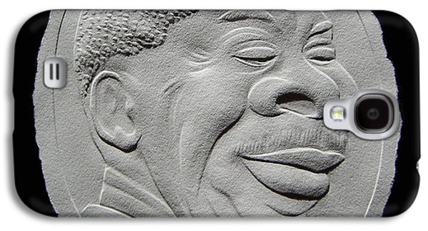 Drawing Reliefs Galaxy S4 Cases - Fingernail Relief Portrait Of B B King Galaxy S4 Case by Suhas Tavkar