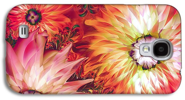 Dreamscape Galaxy S4 Cases - Fire Asters Galaxy S4 Case by Mindy Sommers