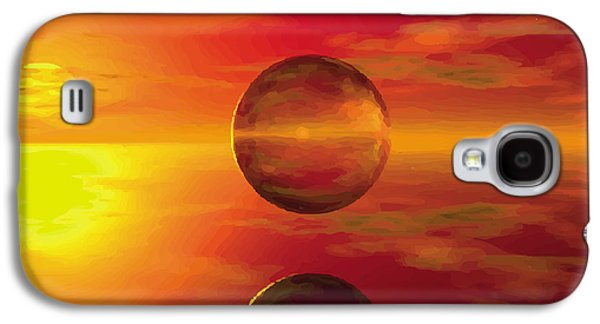 Print Glass Art Galaxy S4 Cases - Fire Ball Galaxy S4 Case by Jay Salton