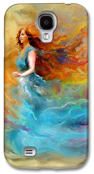 Photo Manipulation Paintings Galaxy S4 Cases - Fire Dancer Galaxy S4 Case by Patricia Lintner