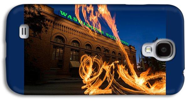 Fire Dancers In Spokane W A Galaxy S4 Case by Steve Gadomski